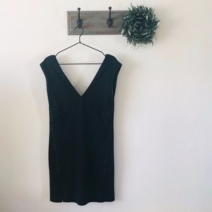 Free People Black Oslo Zipper Dress L